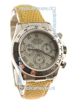 Rolex Daytona Cosmograph Swiss Replica Watch in Yellow Pearl Dial