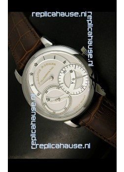 Alange Sohne Dual Sub Dials Japanese Watch Brown Strap