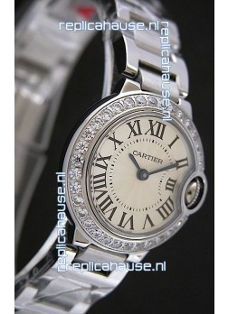 Cartier Ballon Bleu de Swiss Replica Watch in White Dial