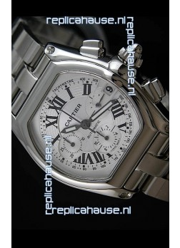 Cartier Roadster Swiss Replica Watch in White Dial