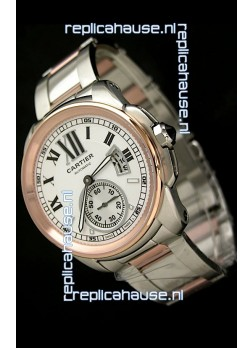 Calibre De Cartier Japanese Automatic Replica Watch in Two Tone