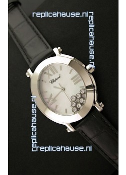 Chopard Happy Sport Ladies Japanese Replica Watch in Steel