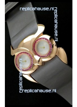 Chopard Animal World Ladies Owl Watch in Double Mop White Dial