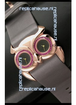 Chopard Animal World Ladies Owl Watch in Double Black Dial