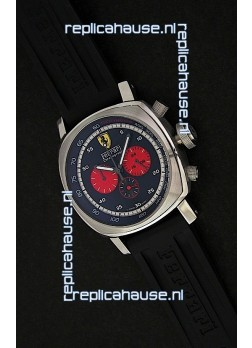 Ferrari Chronograph Japanese Replica Watch in Black Dial