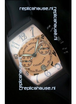 Franck Muller Casa Blanca Japanese Replica Watch in Orange Dial