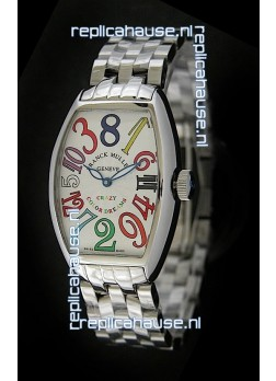 Franck Muller Crazy Color Dreams Japanese Replica Watch in White Dial