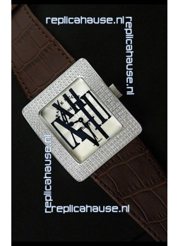Franck Muller Geneve Infinity Japanese Special Watch in Brown Leather Strap