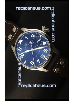 IWC Big Pilot - Functional Power Reserve Blue Dial 1:1 Mirror Replica Watch