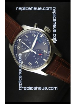 IWC IW387802 Pilot Chronograph 1:1 Mirror Replica with Leather Strap