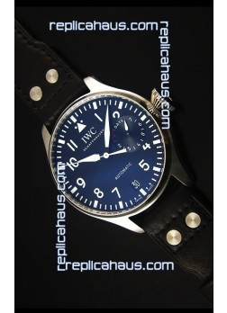 IWC Big Pilot IW500901 - Functional Power Reserve Brown Strap Black Dial 1:1 Mirror Watch