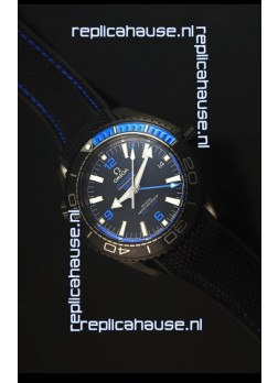 Omega Seamaster Planet Ocean Deep Black Blue GMT 1:1 Edition Swiss Replica Watch