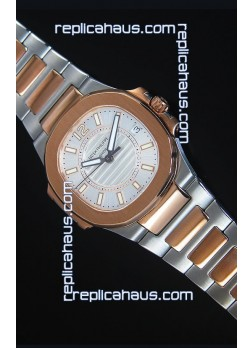 Patek Philippe Ladies Nautilus Two Tone Rose Gold Watch 36MM