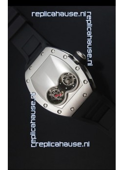 Richard Mille RM053 Tourbillon Pablo Mac Donough Swiss Replica Watch in Titanium Case Black Strap
