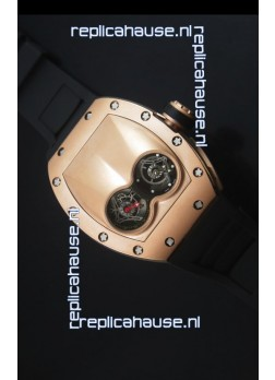 Richard Mille RM053 Tourbillon Pablo Mac Donough Pink Gold Case Black Strap Swiss Watch