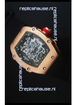 Richard Mille RM027 Tourbillon Rafael Nadal Edition Swiss Watch in 18K Rose Gold