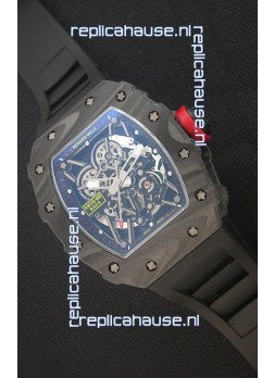 Richard Mille RM035-2 Rafael Nadal Forged Carbon Case with Red Crown