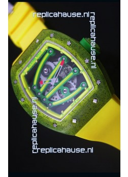 Richard Mille RM059 Yohan Blake Edition Swiss Replica Watch in Yellow Bezel