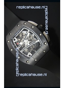 Richard Mille RM061 Ceramic Case Swiss Black and White Bezel Replica Watch