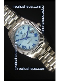 Rolex Day Date Light Blue Dial Replica Watch 40MM - 3255 Swiss Movement