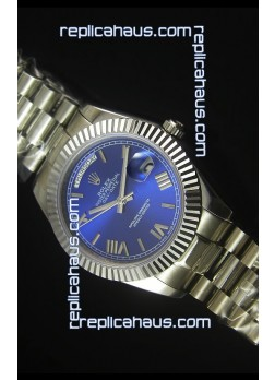 Rolex Day Date Dark Blue Dial Replica Watch 40MM - 3255 Swiss Movement