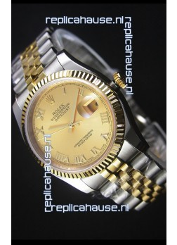 Rolex Datejust Replica Watch Gold with Roman Dial in 36MM with 3135 Swiss Movement