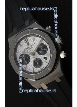 Audemars Piguet Royal Oak Chronograph White Dial Rubber Strap Swiss Replica Watch