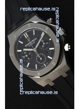 Audemars Piguet Royal Oak Chronograph Black Dial Rubber Strap Swiss Replica Watch