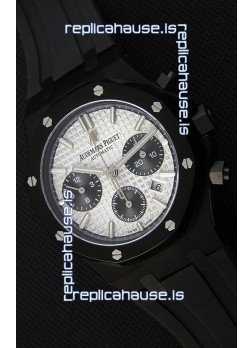 Audemars Piguet Royal Oak Chronograph Silver Toned Dial Black Subdials Swiss Replica Watch