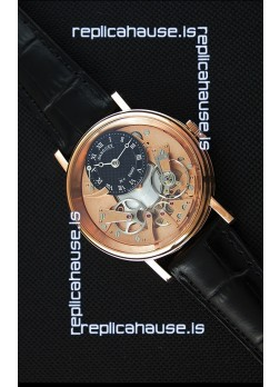 Breguet Tradition 7057BR/R9/9W6 Pink Gold Dual Tourbillon Swiss Replica Watch