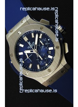 Hublot Big Bang Steel Blue Swiss Replica Watch 1:1 Mirror Replica