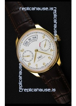IWC Portugieser Annual Calender White Dial Yellow Gold IW503502 1:1 Mirror Replica