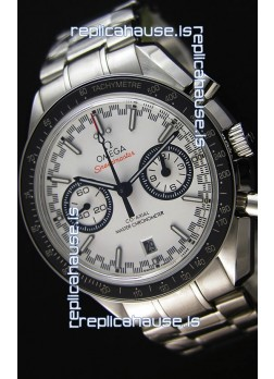 Omega Speedmaster Racing Co-Axial Master Chronograph Swiss Replica Watch White Dial