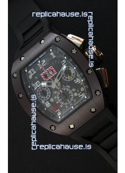 Richard Mille RM011-FM Felipe Massa One Piece Ceramic Case Watch in Black Strap