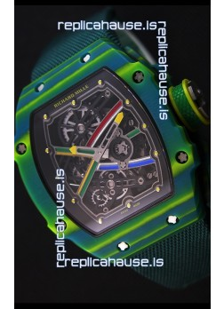 Richard Mille 67-02 Wayde Van Niekerk Forged Carbon Swiss Replica Watch