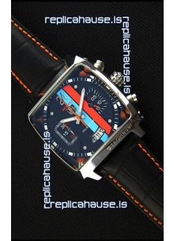 Tag Heuer Monaco 24 Quartz Replica Watch in Red/Blue Stripes Dial