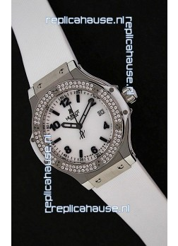 Hublot Big Bang King Swiss Quartz Watch in Faux Diamonds Plated