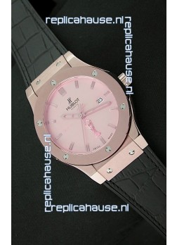 Hublot Classic Fusion FIFA Edition Swiss Watch in Pink Gold Case