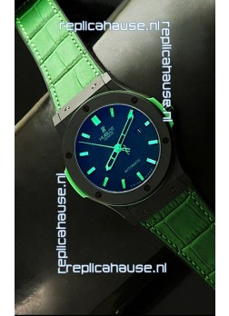 Hublot Big Bang Classic Fusion Ceramic Case Watch in Green Strap