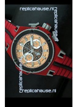 Hublot King Power Ferrari Edition Swiss Replica Watch - Red Strap
