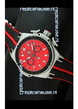 Hublot King Power Ferrari Edition Swiss Replica Watch - Black Strap