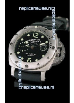Panerai Luminor Submersible 1000m Swiss Watch in Black Dial