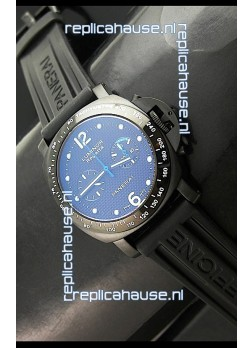 Panerai Luminor Regatta Swiss Watch in PVD Casing Rubber Strap
