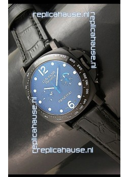 Panerai Luminor Regatta Swiss Watch in PVD Casing Leather Strap