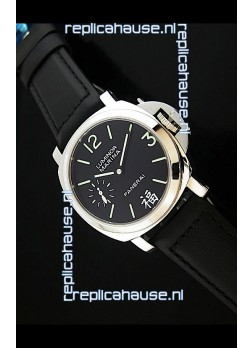 Panerai Luminor Marina Swiss Steel Watch Black Dial