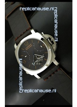 Luminor Panerai Japanese Replica Tourbillon Watch in Black Dial