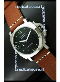 Luminor Panerai Japanese Replica Automatic Watch in Black Dial