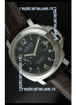 Panerai Luminor Marina PAM164 Swiss Automatic Replica Watch in Brown Strap - 1:1 Mirror Replica