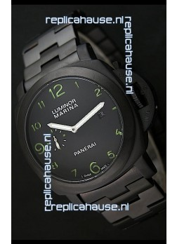 Panerai Luminor Marina Japanese Replica Watch in Green Markers