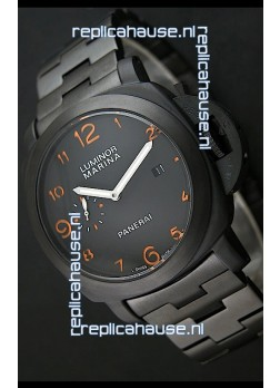 Panerai Luminor Marina Japanese Replica Watch in Orange Markers